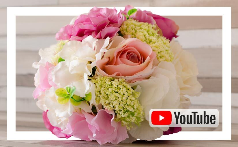 Video buchet mireasa / nasa cu flori de matase