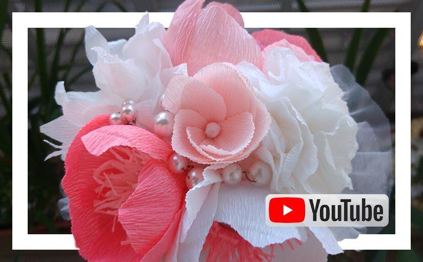 Video buchet cu flori de hartie