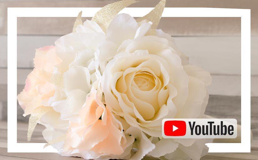 Video buchet cu flori de matase ivoar